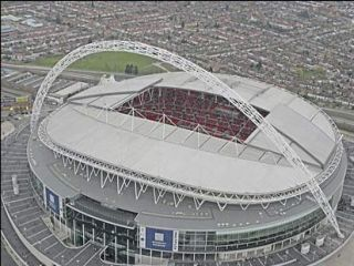 Wembley Stadium in 'The Long Ride Back To Scratchwood'