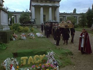 Jack South's funeral in 'Minder On The Orient Express'