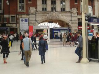 Victoria station in 'Minder On The Orient Express'