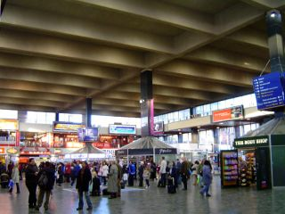 Euston station in 'A Little Bit Of Give & Take'