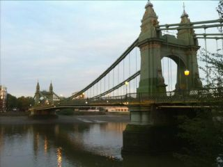 Hammersmith Bridge in 'A Lot Of Bull And A Pat On The Back'