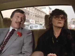 Driving to the funeral directors in 'Dead Men Do Tell Tales'