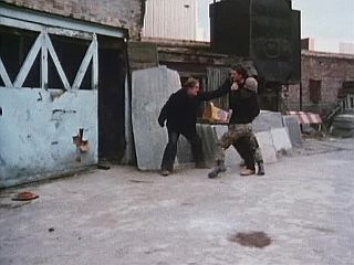Fight scene in 'The Car Lot Baggers'