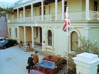 British Consulate in 'For A Few Dollars More'