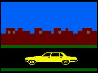 Driving between locations in dk'tronics Minder Computer Game