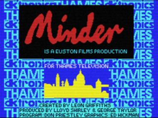 Front Screen in dk'tronics Minder Computer Game