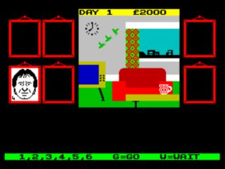 Terry's Flat in dk'tronics Minder Computer Game